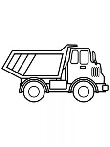 Large Dump Truck Coloring Page