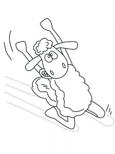 Large Sheep Coloring Pages