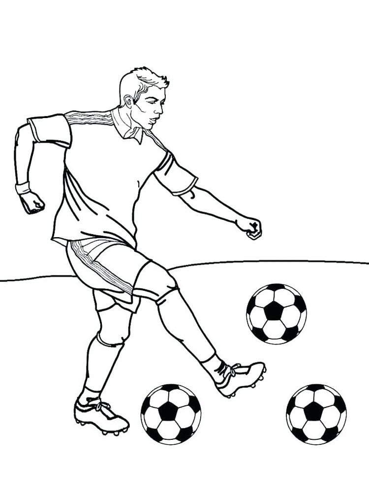 Large Soccer Ball Coloring Page