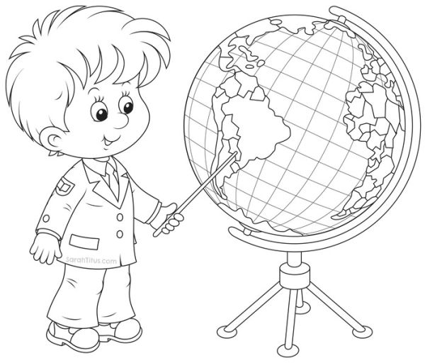 Learning back to school coloring pages