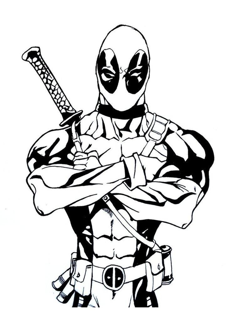 Lego Deadpool Coloring Pages To Print