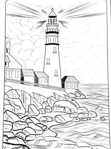 Lighthouse Art Coloring Pages