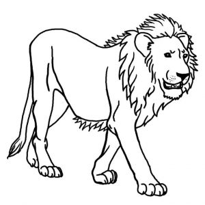 Lion Coloring Pages To Print for kindergarten