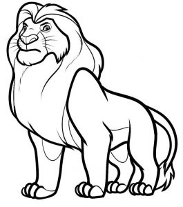 Lion Coloring Pages for toddler
