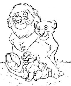 Lion Family Coloring Pages