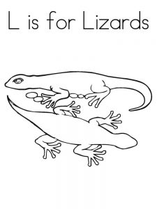 Lizard coloring pages download
