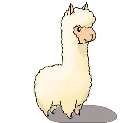 Llama Coloring Pages Easy