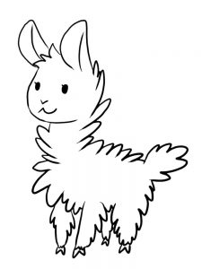 Llama Coloring Pages For Adults