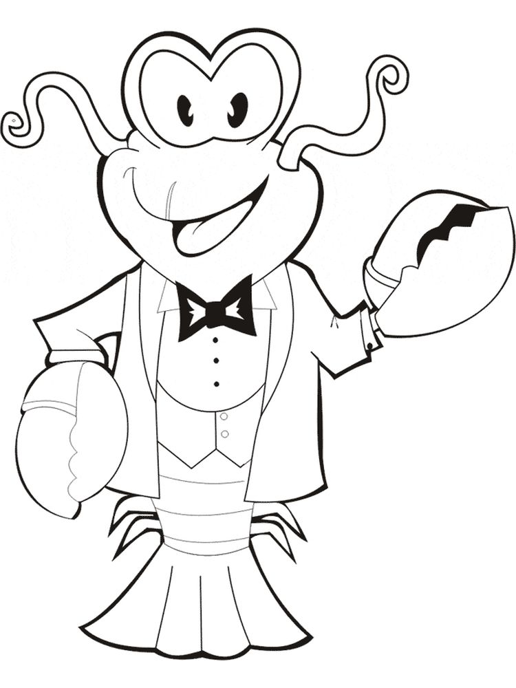 Lobster coloring pages free