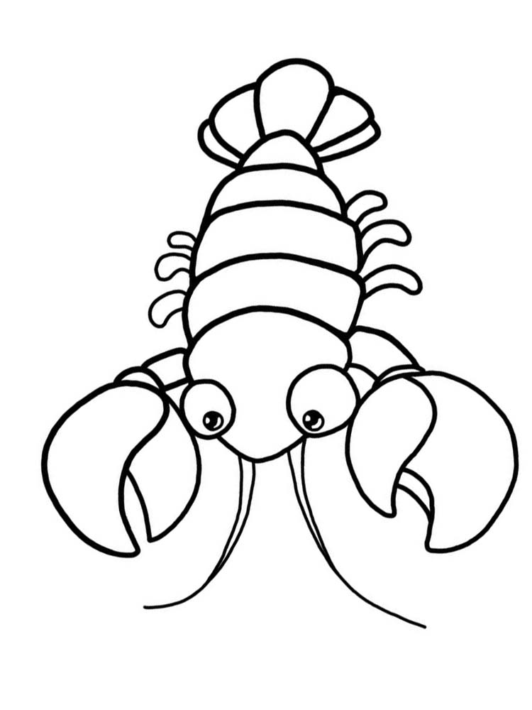 Lobster coloring pages