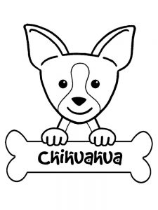 Long Haired Chihuahua Coloring Pages