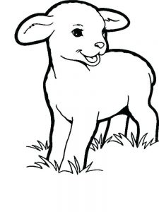 Lost Sheep Coloring Pages Free