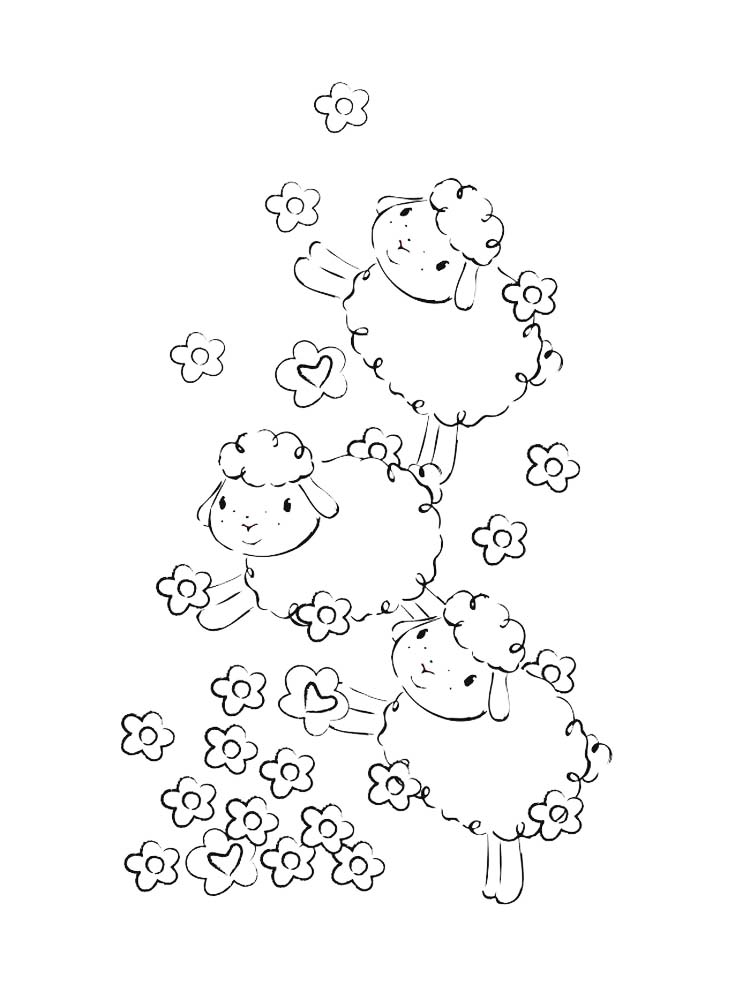 Lost Sheep Coloring Pages