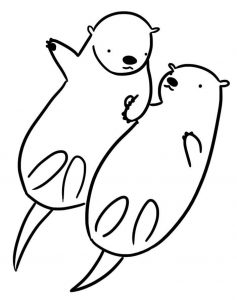 Lovely Otter Coloring Pages