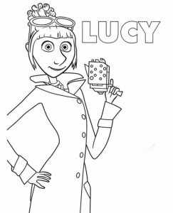 Lucy From Minions To Print For Free