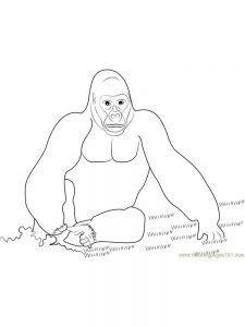 Mama Gorilla Coloring Pages