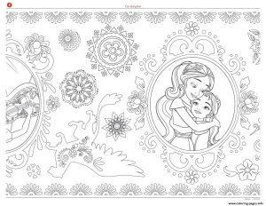 Mandala Zentagle Adult Disney Elena Of Avalor Coloring Pages Printable