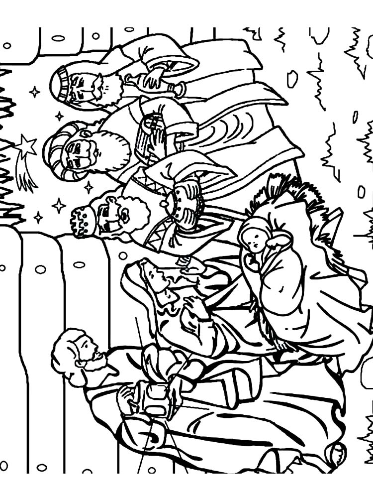Manger Scene Coloring Pages