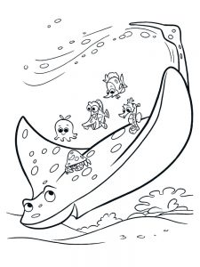 Manta Ray Coloring Pages Image