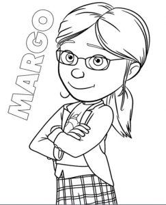 Margo From Minions Movie To Print For Free