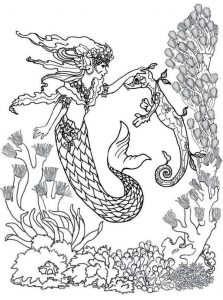 Mermaid With Her Seahorse