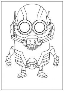 Minion As Ant Man Coloring Page