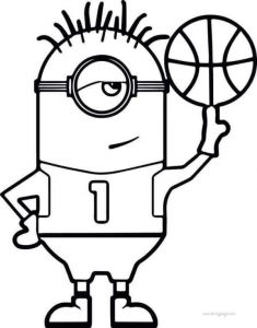 Minion Basketball Coloring Page