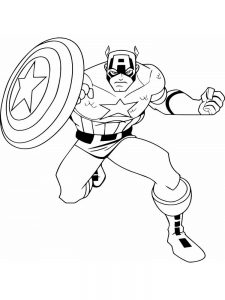 Minion Captain America Coloring Pages