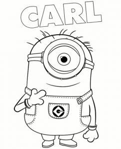 Minion Carl Coloring Page To Print For Free