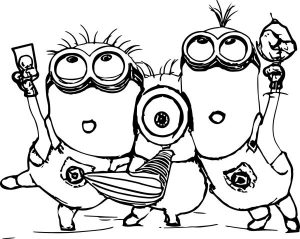 Minion Coloring sheet