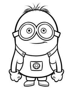 Minions Coloring Books To Print For Free