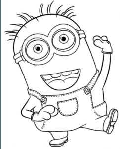 Minions Colouring Books dancing