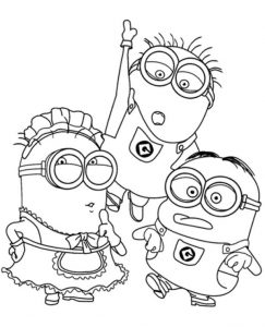 Minions Colouring Page role playing
