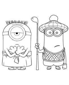 Minions Colouring Pages To Print For Free