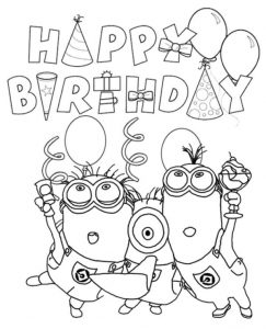Minions Happy Birthday Printable Card To Print For Free