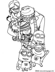 Minions The Family Coloring Pages Printable