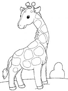 Momjunction Giraffe Coloring Pages