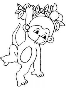 Monkey Coloring Pages For Toddlers