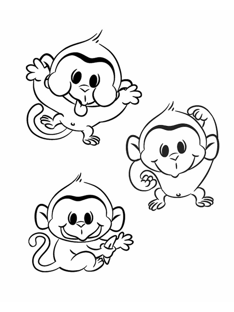 Monkey Coloring Pages Free