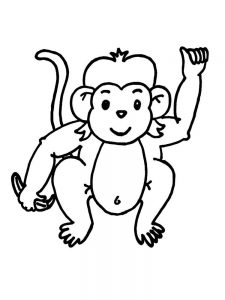 Monkey Coloring Pages Pdf