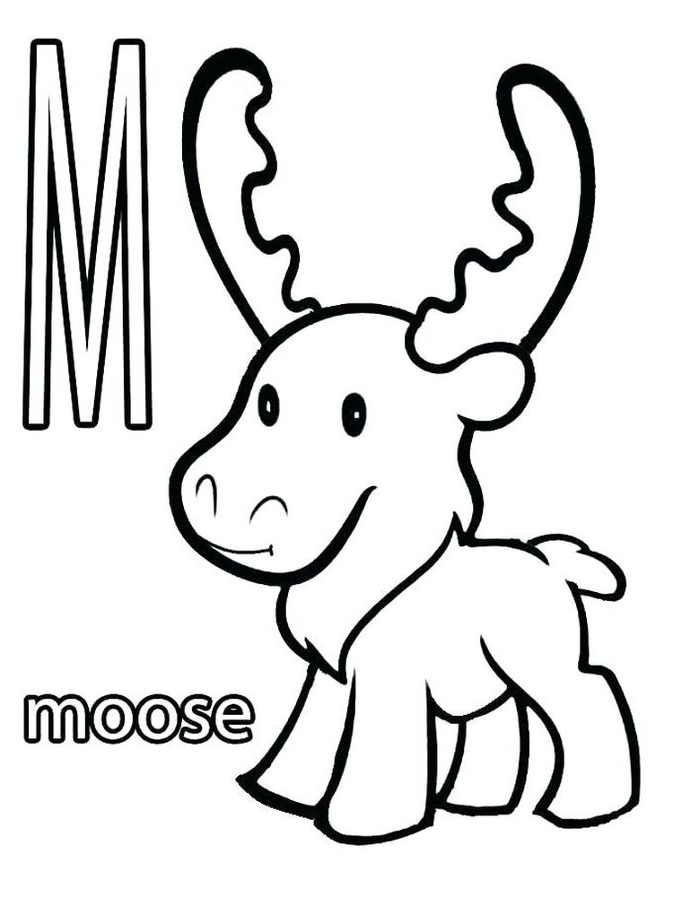 Moose Coloring Pages For Preschool