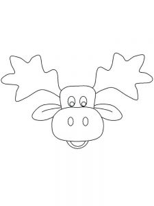Moose Head Coloring Pages For Preschool