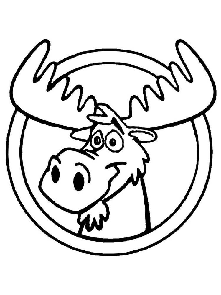 Moose Head Coloring Pages To Print
