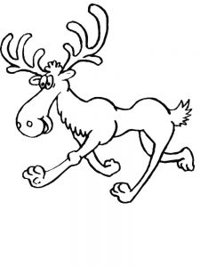Moose Printable Coloring Pages