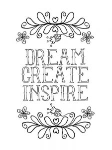 Motivational Quote Coloring Pages