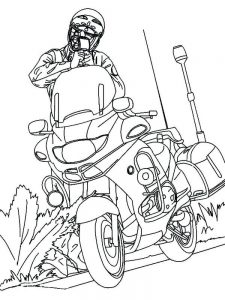 Motorcycle Colouring Pages Free