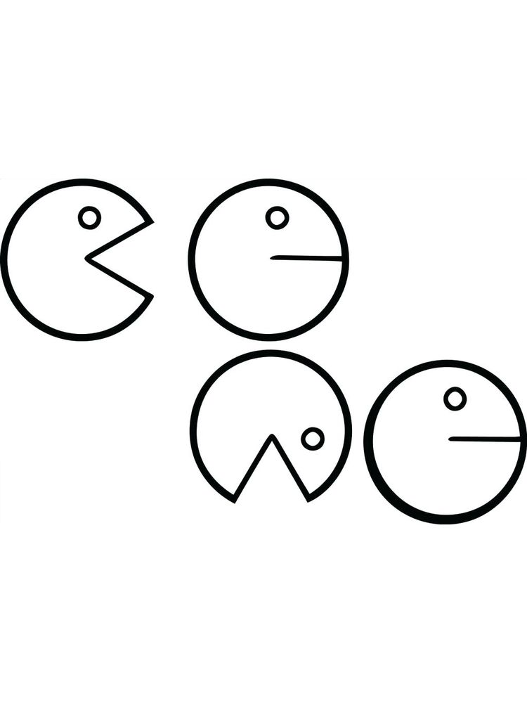 Mrs Pac Man Coloring Pages