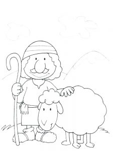 Mummy Sheep Coloring Pages