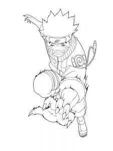 Naruto And Kurama Coloring Pages