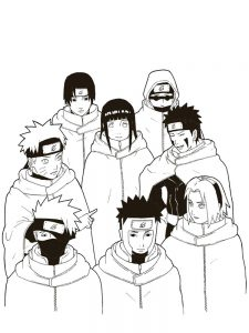 Naruto Anime Coloring Pages